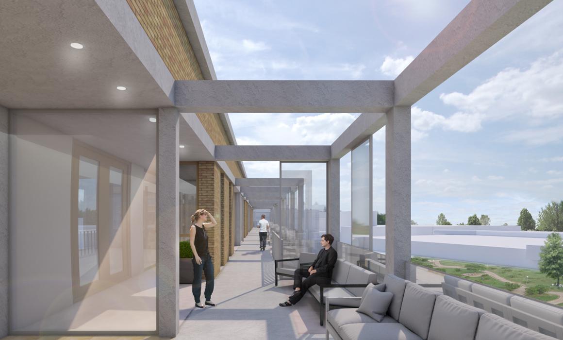 render balkon appartementen, woonvisie, Ridderkerk